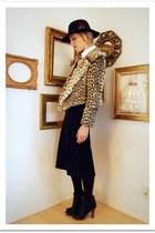 light brown Crossroads Trading Co jacket - black Macalistaire Vintage skirt - bl