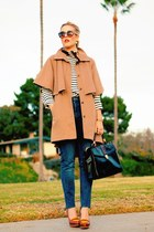 camel Opening Ceremony coat - blue Urban Outfitters jeans