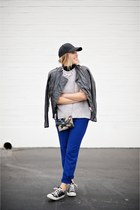 blue Loft pants - black Hobo bags bag