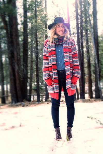 ruby red cardigan Juicy Couture sweater