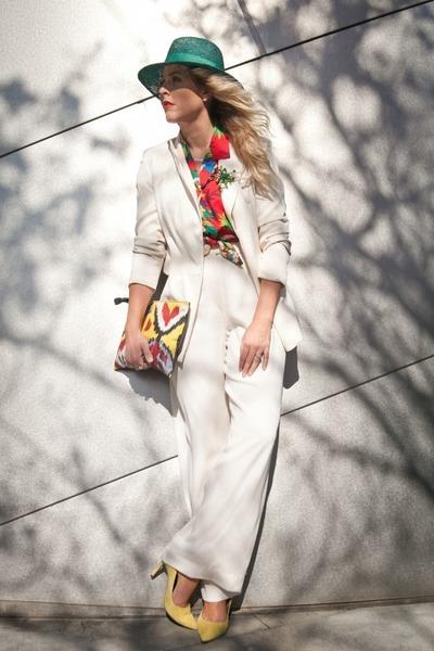 vintage hat - Lovers & Friends blazer - vintage pants - rachel rachel roy heels