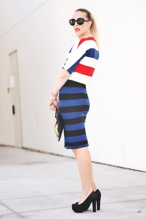 vintage top - Forever 21 skirt - JCPenney pumps