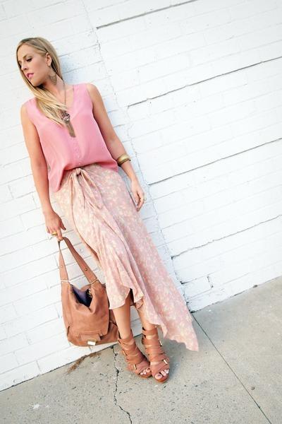 platforms rachel rachel roy sandals - Kooba bag - tank silk vintage top