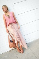 platforms rachel rachel roy sandals - Kooba bag - tank silk vintage top