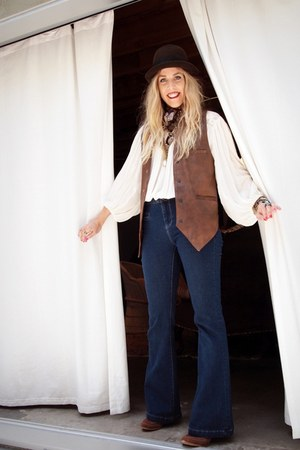 brown Colin Stuart for Victorias Secret boots - navy Forever 21 jeans - dark bro