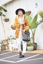 black OtteNY hat - white Joes Jeans jeans - black Cleobella bag