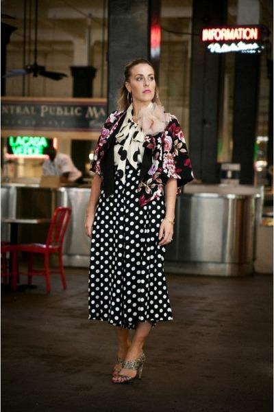 black Crossroads Find jacket - light pink bando accessories - white Zara blouse