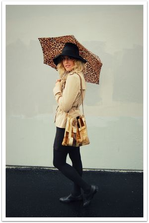 beige Target jacket - black Zara hat - brown Target - black Forever 21 skirt - b