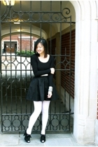 H&M skirt - H&M shirt - H&M belt - American Apparel stockings