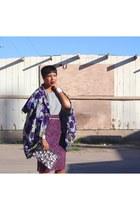 Hanii Y top - Fumblin Foe Floral jacket - Zara skirt - JCrew belt