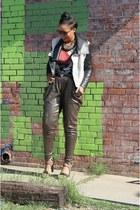Zara belt - French Connection jacket - clutch Nasty Gal purse