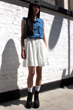white denim THE WHITEPEPPER dress