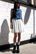White-denim-the-whitepepper-dress