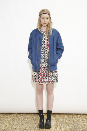 denim bomber THE WHITEPEPPER jacket - THE WHITEPEPPER dress