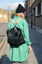 Black-faux-leather-the-whitepepper-bag