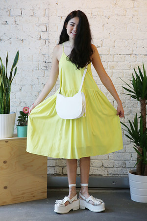 ivory THE WHITEPEPPER bag - yellow THE WHITEPEPPER dress