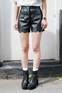 Black-the-whitepepper-shorts