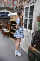 blue THE WHITEPEPPER dress - THE WHITEPEPPER sandals