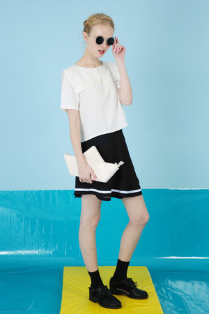black wrap mini skirt THE WHITEPEPPER skirt - black THE WHITEPEPPER skirt