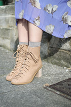 beige ankle boots THE WHITEPEPPER shoes