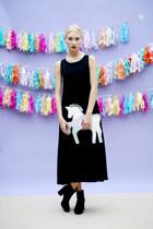 silver THE WHITEPEPPER bag - black THE WHITEPEPPER dress