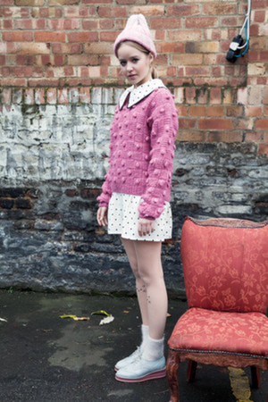 bubble gum THE WHITEPEPPER jumper - white THE WHITEPEPPER dress