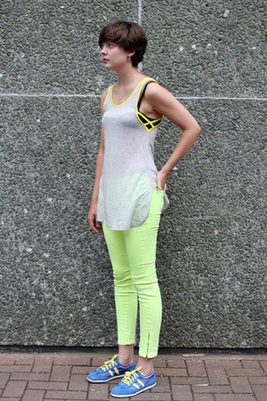 lime green neon jeans THE WHITEPEPPER jeans