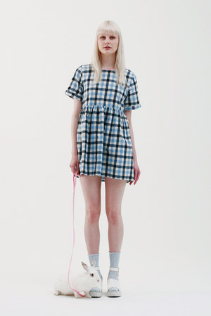 THE WHITEPEPPER dress - THE WHITEPEPPER socks - THE WHITEPEPPER sandals