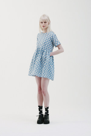 black THE WHITEPEPPER shoes - sky blue THE WHITEPEPPER dress