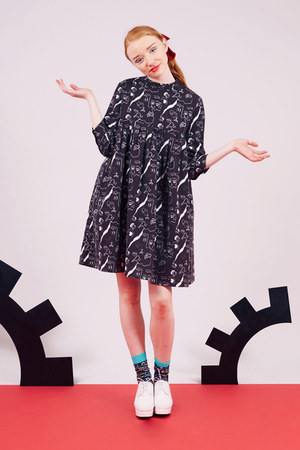 black THE WHITEPEPPER dress - black THE WHITEPEPPER socks