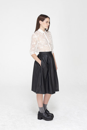 THE WHITEPEPPER skirt - THE WHITEPEPPER shoes - THE WHITEPEPPER blouse
