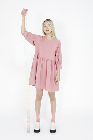 ivory THE WHITEPEPPER loafers - bubble gum THE WHITEPEPPER dress