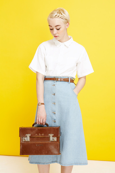 THE WHITEPEPPER shirt - THE WHITEPEPPER skirt