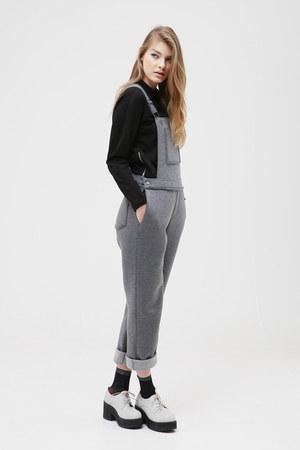 gray THE WHITEPEPPER bodysuit - gray THE WHITEPEPPER bodysuit