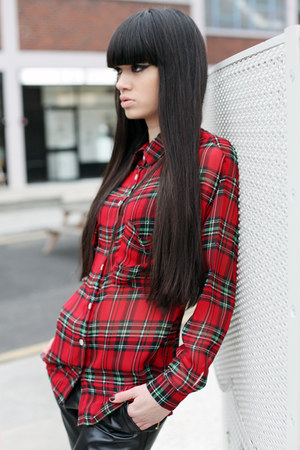 red check blouse THE WHITEPEPPER blouse