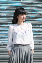 White Embroidery THE WHITEPEPPER Blouses