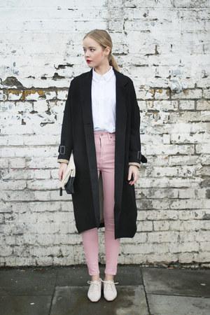 black THE WHITEPEPPER coat - ivory THE WHITEPEPPER shoes