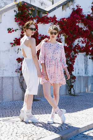 pink THE WHITEPEPPER dress - white THE WHITEPEPPER dress