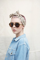 Vintage Style Round Sunglasses Leopard