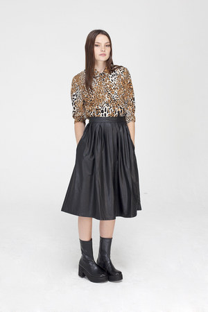 THE WHITEPEPPER skirt - THE WHITEPEPPER boots - THE WHITEPEPPER blouse