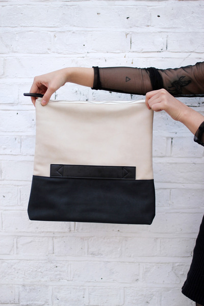 off white faux leather THE WHITEPEPPER bag