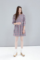 smock dress THE WHITEPEPPER dress - mary janes the wedges