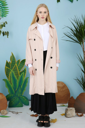 peach THE WHITEPEPPER coat - white THE WHITEPEPPER shirt