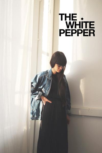 black knitted top THE WHITEPEPPER dress