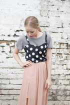 Black Polka Dot THE WHITEPEPPER Vests