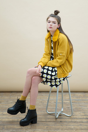 mustard THE WHITEPEPPER jacket - yellow THE WHITEPEPPER dress