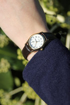Dark Brown Leather Watch THE WHITEPEPPER Watches