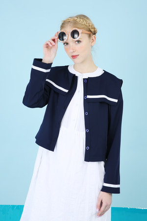 navy THE WHITEPEPPER jacket - ivory THE WHITEPEPPER dress