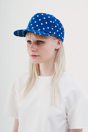 blue THE WHITEPEPPER hat - ivory THE WHITEPEPPER top