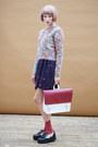 Navy-the-whitepepper-dress-ruby-red-the-whitepepper-bag